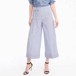 J CREW CUFFED PANT IN SHIRTING STRIPED SIZE 8